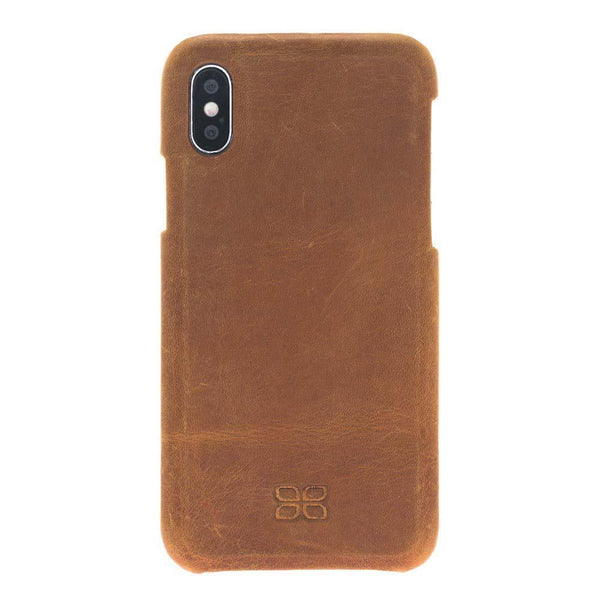 F360 Leder Back Cover Case Apple iPhone X/XS - Rome Tan