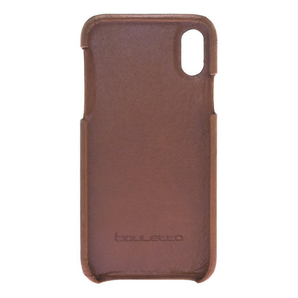 F360 Magnetisch afneembaar Leder Wallet Case Apple iPhone X/XS - Rustic Burnished Tan