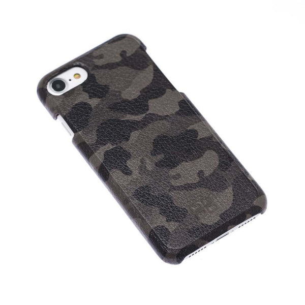 F360 Leder Back Cover Case Apple iPhone 7/8 - Camouflage Brown