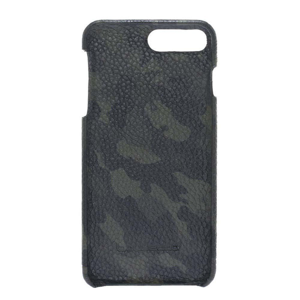 F360 Leder Back Cover Case Apple iPhone 7 Plus / iPhone 8 Plus - Camouflage Green