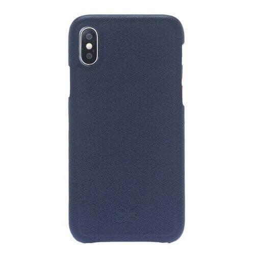 F360 Leder Back Cover Case Apple iPhone X/XS - Floater Dark Blue