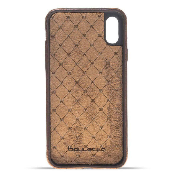 Leder Ultra Cover Snap On Back Cover Apple iPhone X/XS - Vegetal Dark Brown