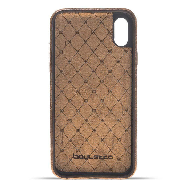 Leder Ultra Cover Snap On Back Cover Apple iPhone X/XS in Vegetal Light Brown