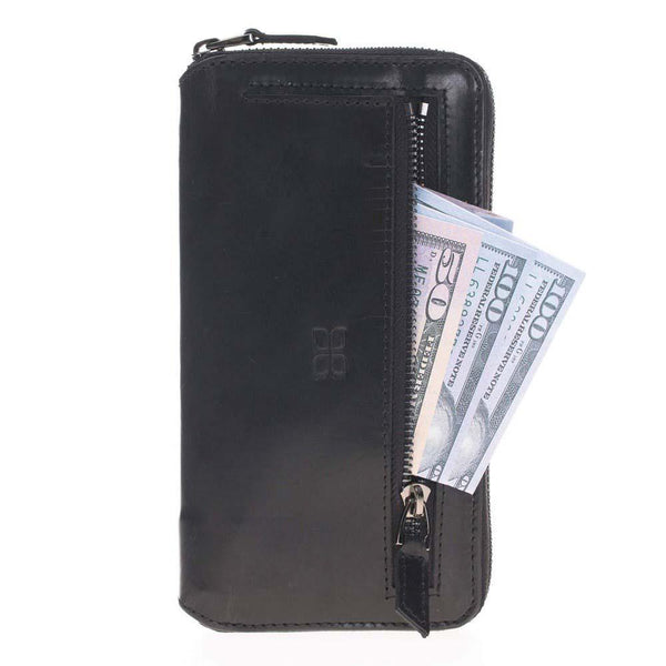 Pouch Magnetisch afneembaar Leder Wallet Case Apple iPhone 7 / 8 in Vegetal Black