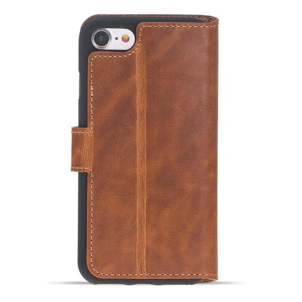 Wallet Folio Leder Case met ID gleufje Apple iPhone 7 / 8 in Vegetal Tan