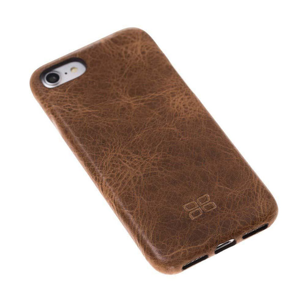 Leder Ultra Cover Snap On Back Cover Apple iPhone 7/8 in Vegetal Light Brown