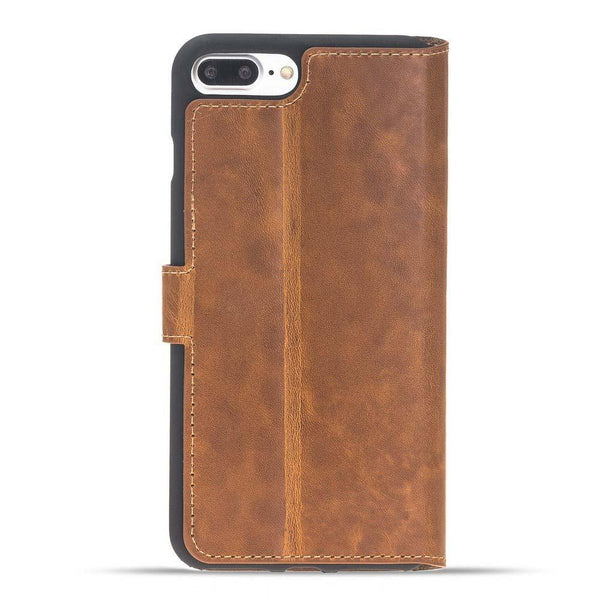 Wallet Folio Leder Case met ID gleufje Apple iPhone 7 Plus / 8 Plus in Vegetal Tan