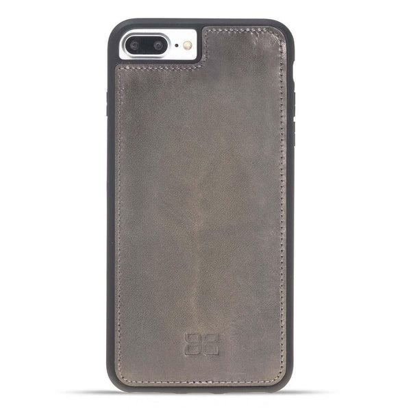 Magnetisch afneembaar Leder Wallet Case Apple iPhone 7 Plus / 8 Plus in Vegetal Grey