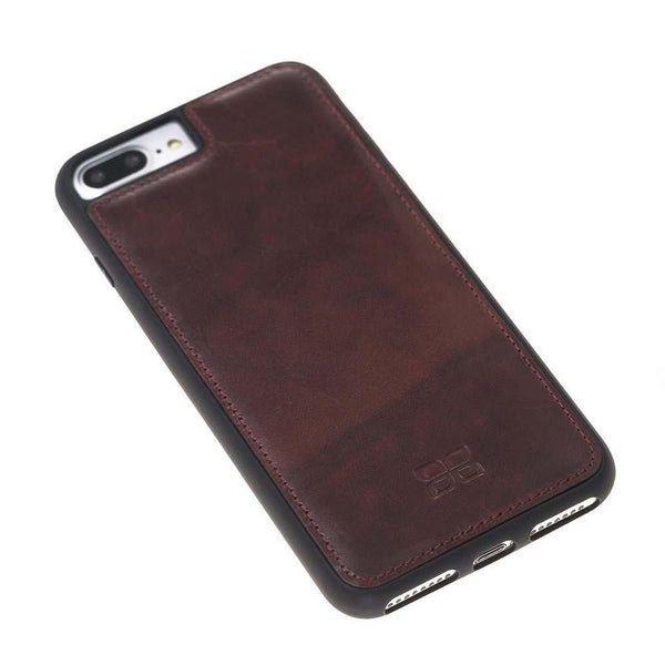 Flex Back Cover Leder Case Apple iPhone 7 Plus / 8 Plus in Vegetal Bordeaux