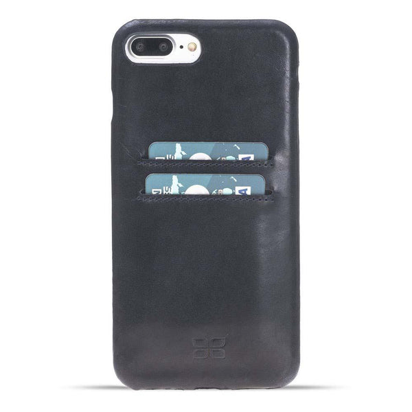 Leder Ultra Cover met Credit Card gleufjes Apple iPhone 7 Plus / 8 Plus - Vegetal Dark Blue