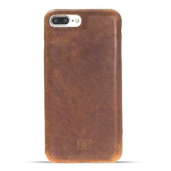 Leder Ultra Cover Snap On Back Cover Apple iPhone 7 Plus / 8 Plus in Vegetal Tan
