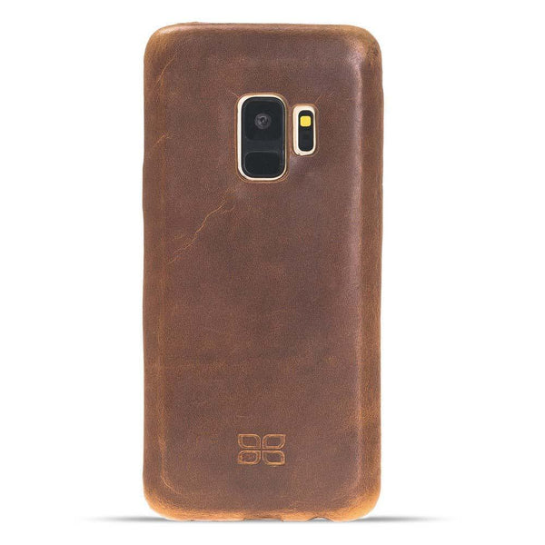 Leder Ultra Cover Snap On Back Cover Samsung Galaxy S9 in Vegetal Tan