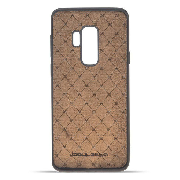 Magnetisch afneembaar Leder Wallet Case Samsung Galaxy S9 PLUS in Vegetal Tan