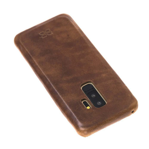 Leder Ultra Cover Snap On Back Cover Samsung Galaxy S9 PLUS in Vegetal Tan