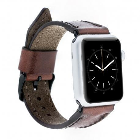 Leder Horlogebandje Apple Watch 38mm / 40mm - Vegetal Brown Effect
