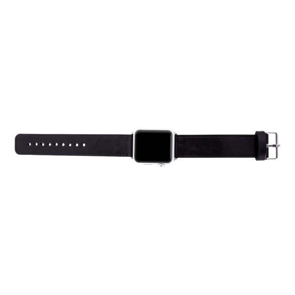 Leder Horlogebandje Apple Watch 38mm / 40mm - Rustic Black