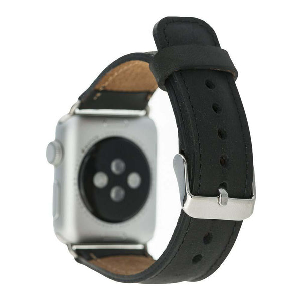 Leder Horlogebandje Apple Watch 42mm / 44mm - Antic Black