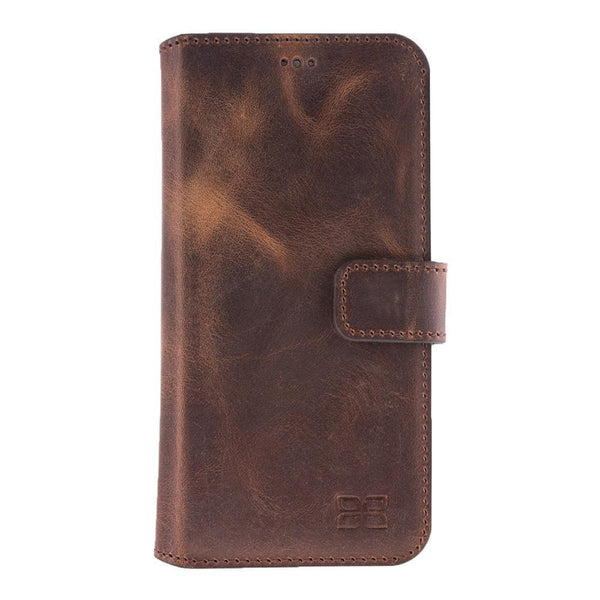 Wallet Folio Leder Case met ID gleufje HTC10 -  Antic Brown