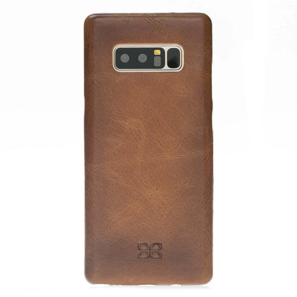 Leder Ultra Cover Snap On Back Cover Samsung Galaxy Note 8 - Rustic Tan met Effect