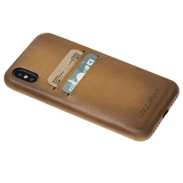 Leder Ultra Cover met Card Holder Apple iPhone X/XS - Vegetal Tan Effect