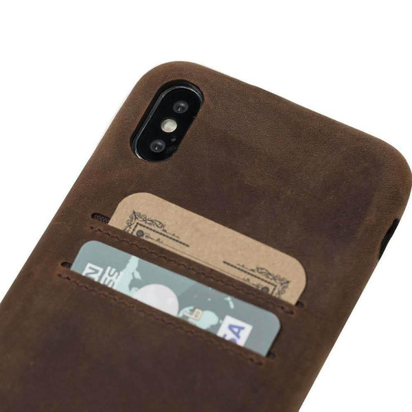 Leder Ultra Cover met Card Holder Apple iPhone X/XS - Antic Brown