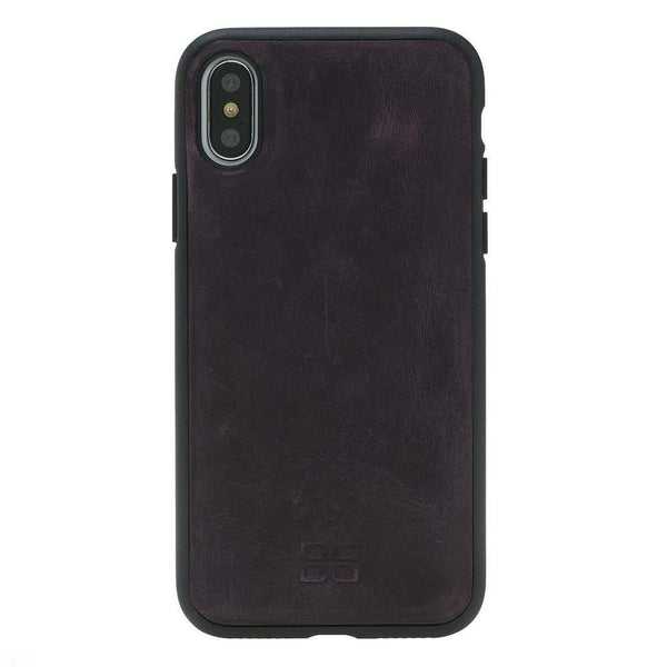 Magnetisch afneembaar Leder Wallet Case Apple iPhone X/XS - Antic Purple