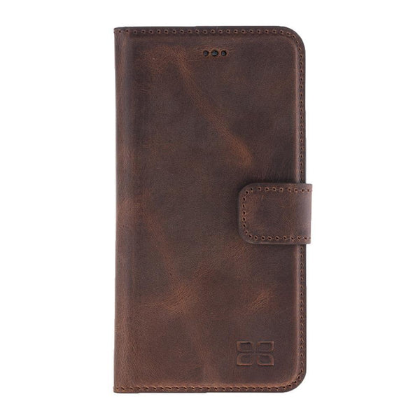 Magnetisch afneembaar Leder Wallet Case Apple iPhone 7/8 -  Antic Brown