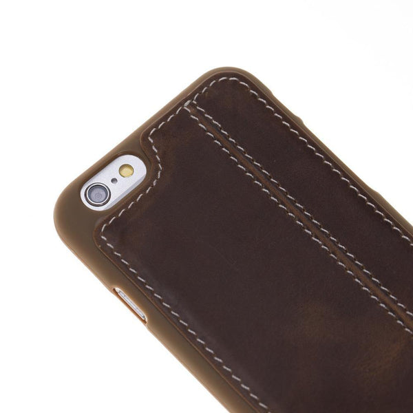 Flex Back Cover Leder Case Apple iPhone 6/6S - (White Sewing) Antic Brown