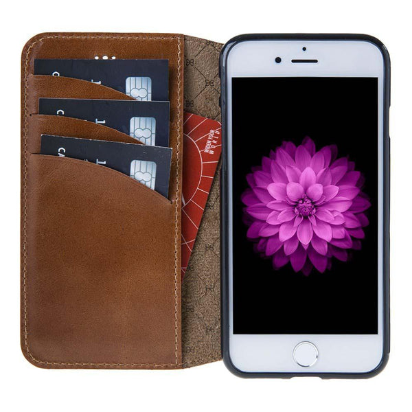 Leder Book Case Apple iPhone 7/8 -  Rustic Tan