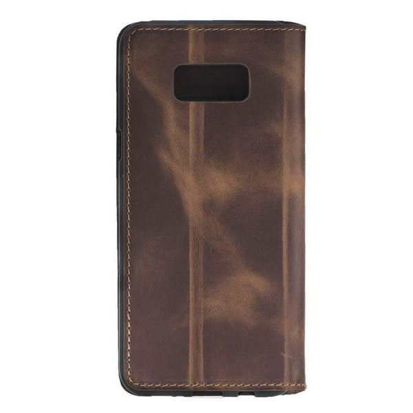Leder Book Case Samsung Galaxy S8 -  Antic Brown