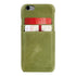 Ultimate Jacket Leder Phone Cases met Card Holder Apple iPhone 6/6S - Crazy Green