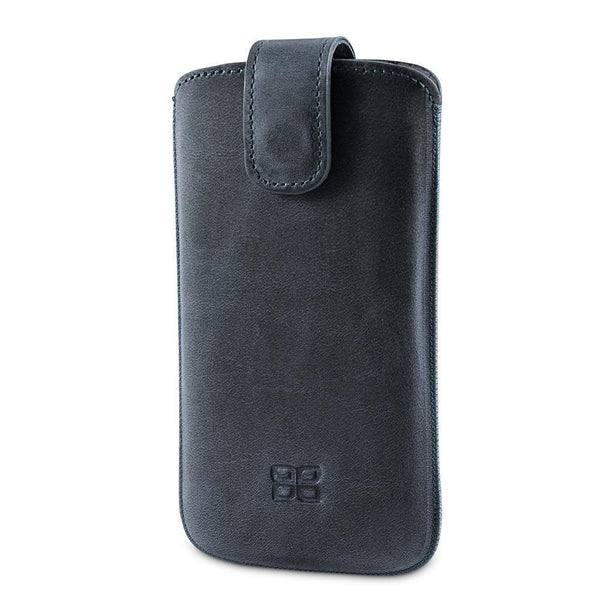 Insteekhoesje Leder Case Samsung Galaxy S3 i9300 Antic - Dark Grey