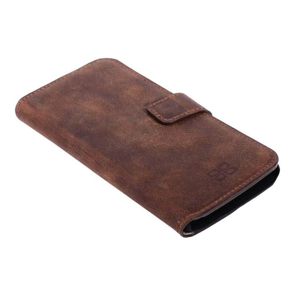 Wallet Folio Case met ID gleufje Samsung Galaxy S6 Edge - Antic Brown
