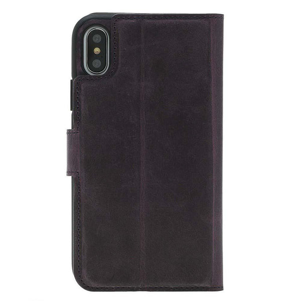 Wallet Folio Leder Case met ID gleufje Apple iPhone X/XS - Antic Purple