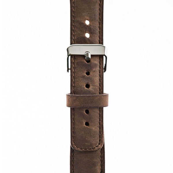 Leder Horlogebandje Apple Watch 42mm / 44 mm -  Antic Brown