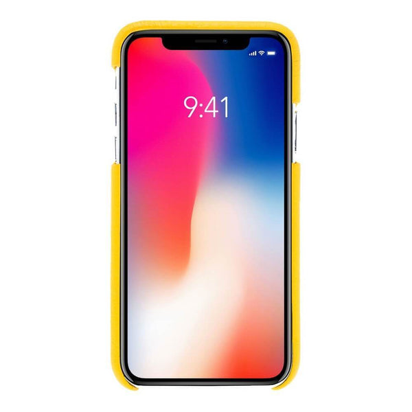 F360 Leder Back Cover Case Apple iPhone X/XS - Floater Yellow