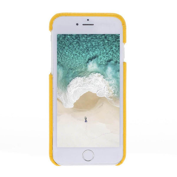 F360 Leder Back Cover Case Apple iPhone 7 - Floater Yellow