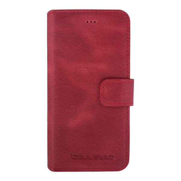 Wallet Leder Case New Edition met ID gleufje Apple iPhone 6 Plus - Crazy Red
