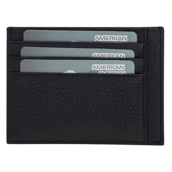 Classic Slim Leder Credit Card Holder - Floater Black