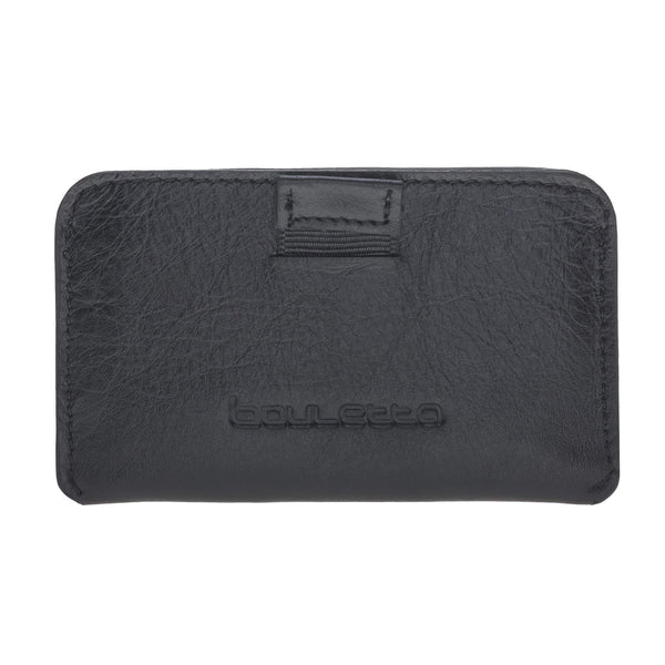 Minima Leder Card Holder met RFID Blocker-Vegetal Black