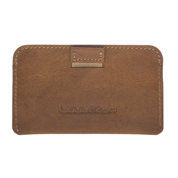 Minima Leder Card Holder met RFID Blocker-Vegetal Tan