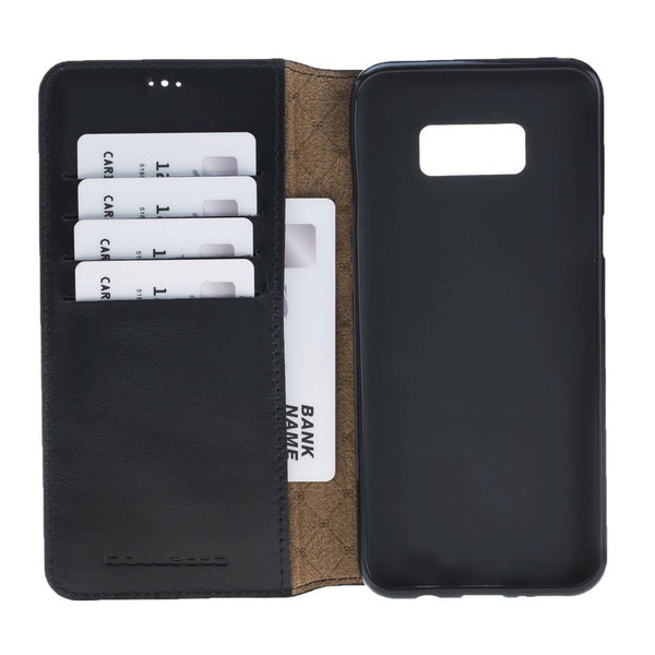 Leder Book Case Samsung Galaxy S8 - Rustic Black