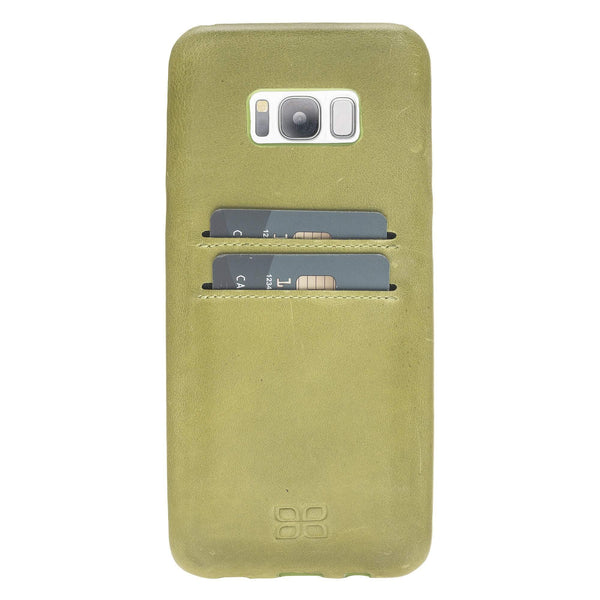 Leder Ultra Cover met Credit Card gleufjes Samsung S8 Plus - Crazy Green