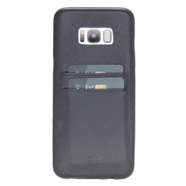 Leder Ultra Cover met Credit Card gleufjes Samsung S8 Plus - Saffiano Navy Blue