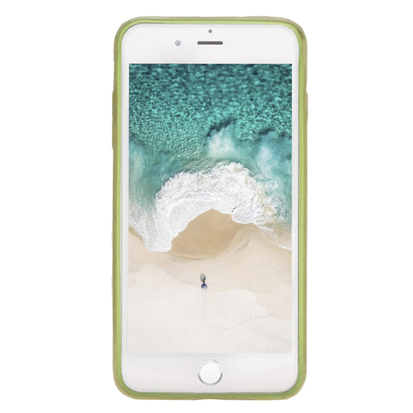Leder Ultra Cover met Credit Card gleufjes Apple iPhone 8 Plus - Crazy Green