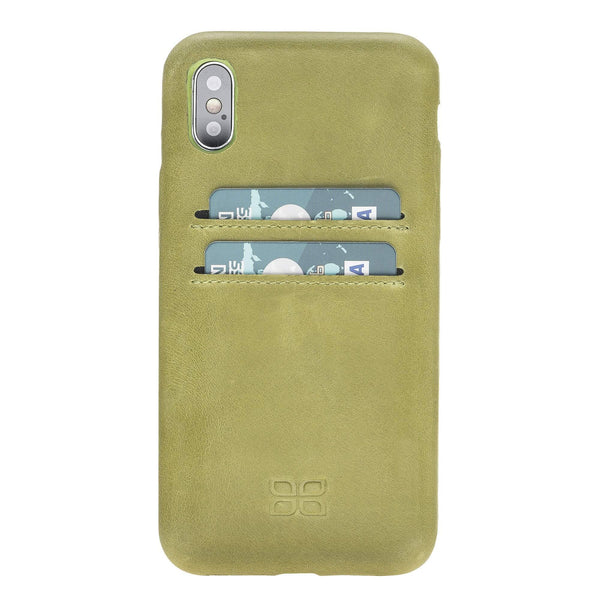 Leder Ultra Cover met Credit Card gleufjes Apple iPhone X/XS - Crazy Green