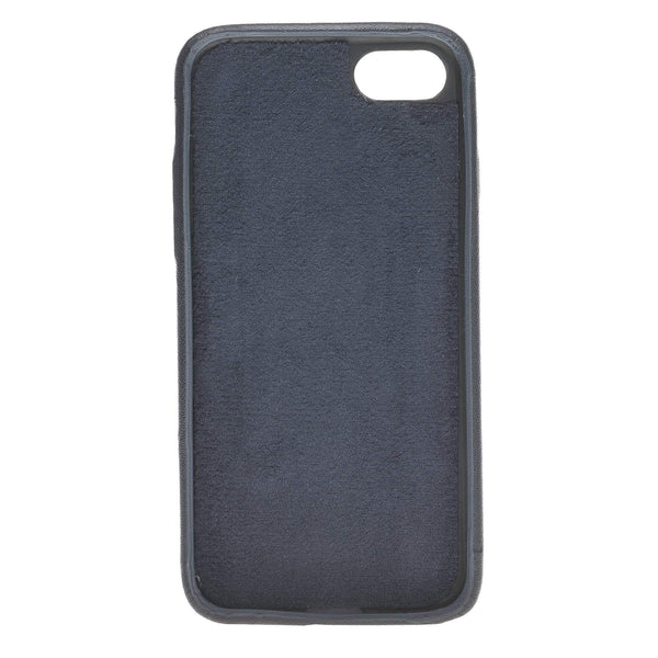 Leder Ultra Cover met Credit Card gleufjes Apple iPhone 8 - Saffiano Navy Blue