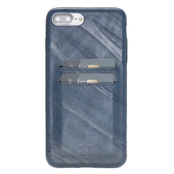 Leder Ultra Cover met Credit Card gleufjes Apple iPhone 7/8 Plus - Creased Blue