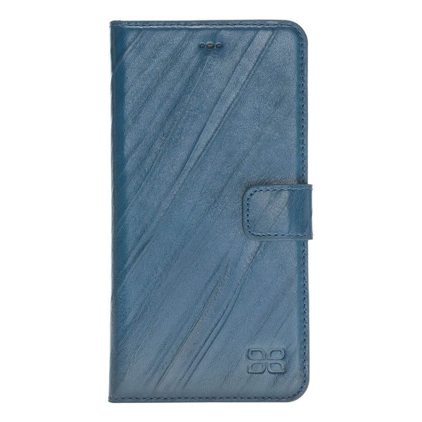 Magnetisch afneembaar Leder Wallet Case Apple iPhone 8 Plus- Creased Blue