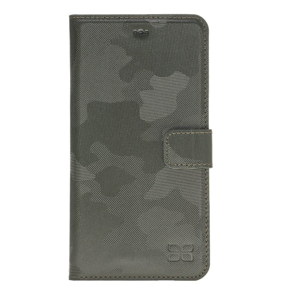 Magnetisch afneembaar Leder Wallet Case Apple iPhone 8 Plus- Camouflage Green